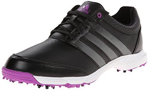 adidas Women's Response Light Golf Shoe, Core Black/Iron Metallic/Flash Pink, 9.5 M US
