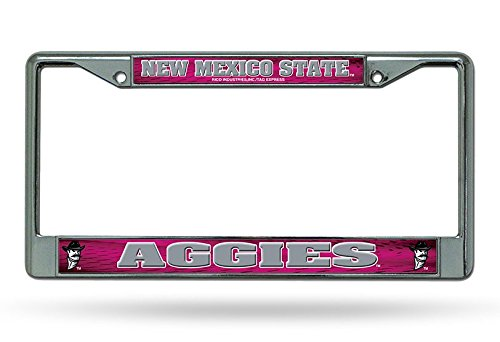 Rico Industries NCAA New Mexico State Aggies Standard Chrome License Plate Frame