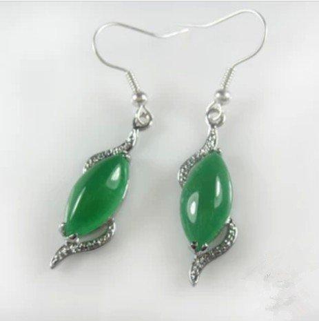 usongs Boutique Malay jade earrings green jade earrings classic popular models jade earrings