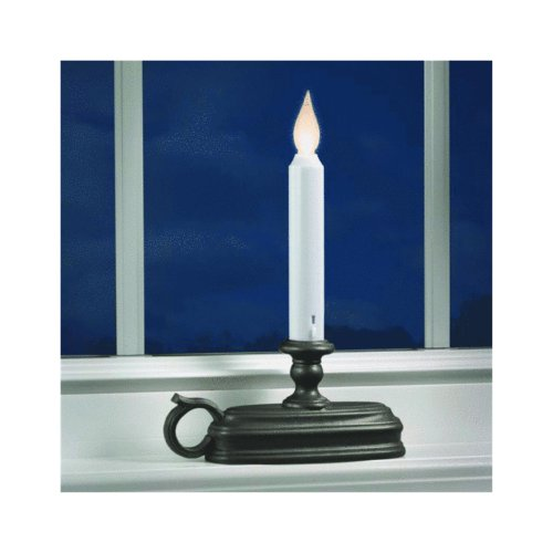 Xodus Innovations FPC1525A Battery Operated LED Window Candle with Sensor, Black, Large Base by Xodus Innovations (Image #1)