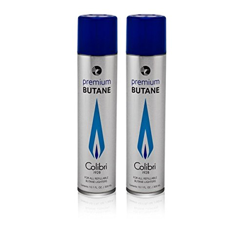 Colibri Premium Butane 300ml - 2 Pack+ FREE Torch lighter