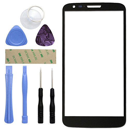 Fenzer Black Replacement Glass Lens Screen for LG G2 with 8 Piece Tool Kit