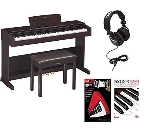 Yamaha YDP-103 Arius Digital Piano with Bench (Rosewood) with Headphones,  Instrucional DVD and Book