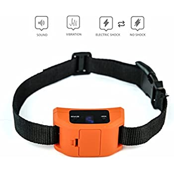 Bark Collar for Small, Medium, Large Dogs w/ 2 Automatic Dual Modes: Beep+Vibration/Shock - Anti Bark Collar w/ Humane 9 Level Sensitivity - Shock Collar to Stop/Control Dog Barking (Orange)