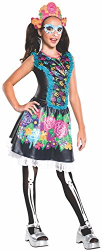 Rubie's Costume Monster High Collector Series Skelita Calaveras Child Costume, Large (Monster High Dia De Los Muertos)
