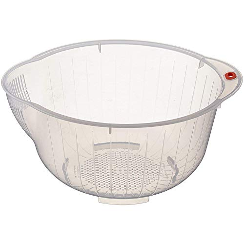 Kitchen Rice Washing Bowl Food Cleaning Strainer Rice Sieve Fruit Drain ()
