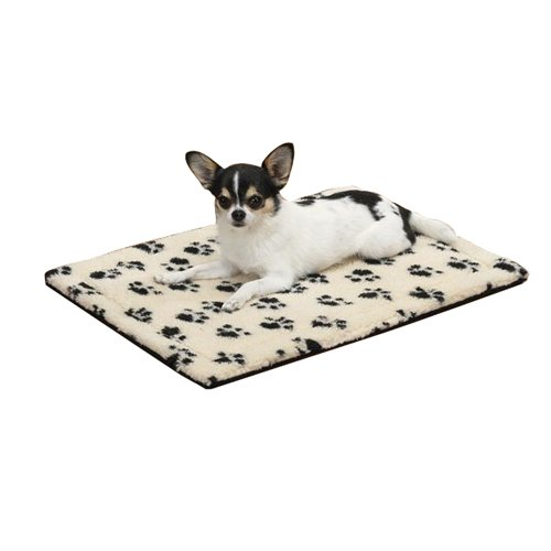 Slumber Pet ThermaPet Pawprint Crate Mats—Comfy and Innovative Mats for Dogs and Cats Designed to Keep Pets Warm Using Their Own Body Heat, Not (Slumber Pet Thermal Cat Mat)