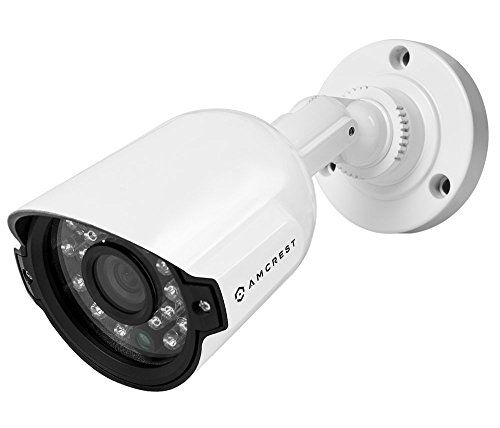 Amcrest AMC960HBC36-W 800+ TVL Bullet Weatherproof IP66 Camera with 65′ IR LED Night Vision (White), Power supply and coaxial video cable are NOT Included (Certified Refurbished)