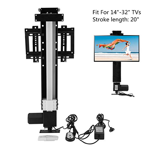 Lifts Tv Furniture Plasma (Happybuy Motorized TV Lift Mount Bracket with Remote Controller Fit for 14