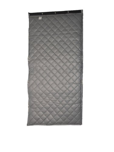Singer Safety SC125 Double Faced Quilted Fiberglass Panel with Grommets and 1 lbs/sqft Barrier Septum, 4' Width x 10' Height x 2'' Thick by Singer Safety