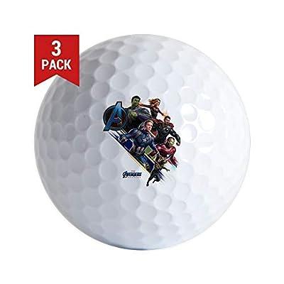 CafePress Avengers Endgame Characters Golf Balls (3-Pack), Unique Printed Golf Balls