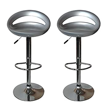 Tabouret De Bar Amazon.Inconnu Tabouret De Bar Snack Gris Lot De 2
