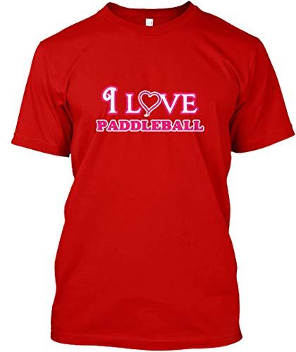 I Love Paddleball 5XL - Classic red Premium Tee - Premium (Classic Paddleball)