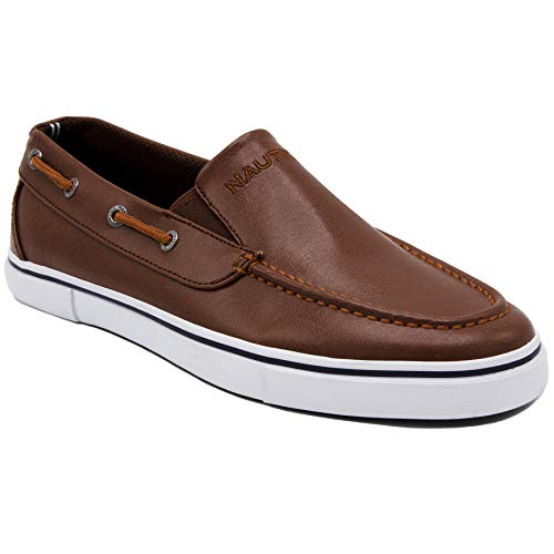 - Nautica Men's Doubloon Boat Shoe Slip-On Loafer-Ginger Smooth-12