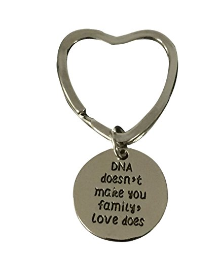 Infinity Collection DNA Doesnt Make You Family Love Does Keychain, Step Parent, Step Child, Friend Gift