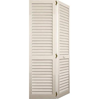 Bi-fold Closet Door, Louver Louver Plantation White