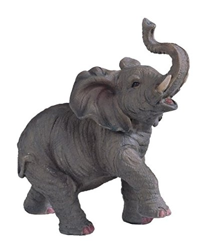 StealStreet SS-G-54135 Small Polyresin Elephant with Trunk Up Figurine Statue, ()