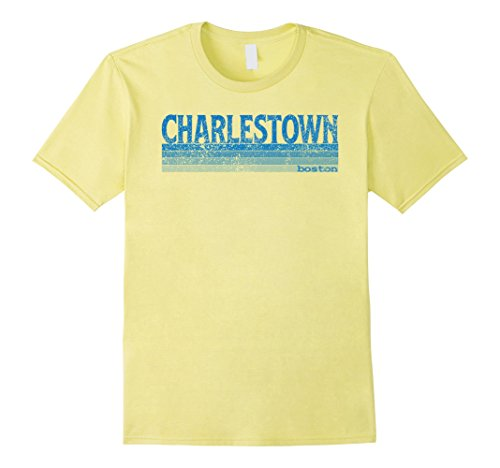 Mens Vintage 1980s Boston MA Neighborhood of Charlestown T Shirt 2XL - Shops Charlestown