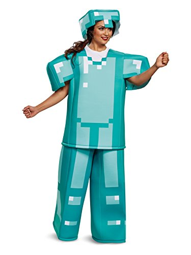 Disguise Men's Minecraft Armor Prestige Adult Costume, Blue, One Size -