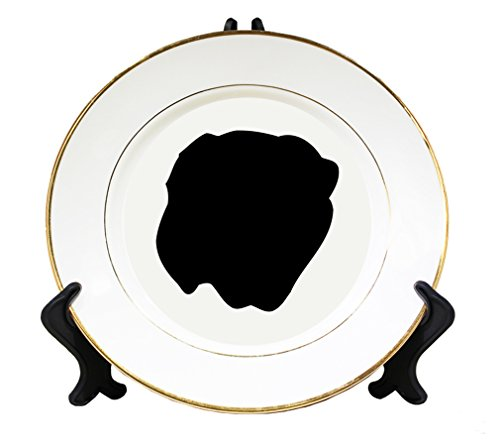 Dogue De Bordeaux Silluette Ceramic Plate with Gold Trim