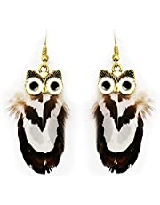 Dar Natural Feather Clips Earring For Women (DAR0000241)
