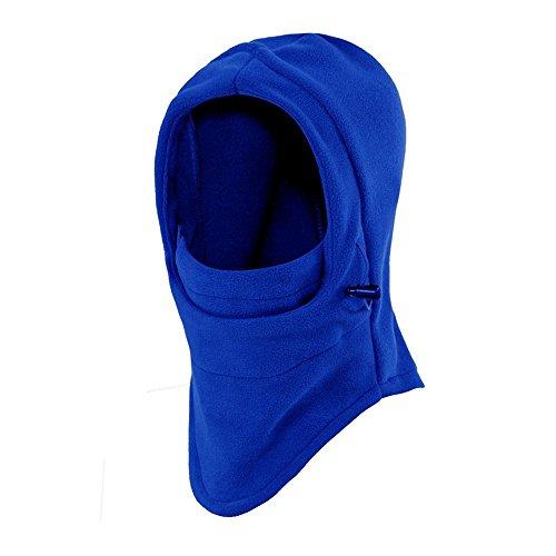 Ezyoutdoor Ezyoutdoor Winter Thermal FLEECE Swat Ski Neck Hoods Full Face Mask Cover Hat Cap for Riding Cycling Hunting Fishing Walking Outdoor Sports (Blue)