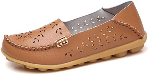 NineCiFun Womens Soft Leather Slip On Loafers Casual Flat Moccasins