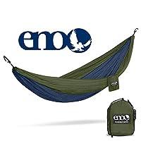 Outfitters del nido de las águilas de ENO - Hamaca de DoubleNest, hamaca portátil para dos, azul marino /verde oliva