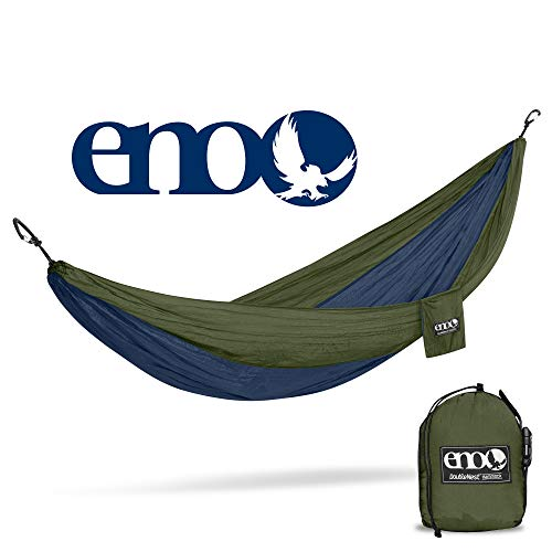 ENO Eagles Nest Outfitters – DoubleNest Hammock, Portable Hammock for Two, Navy Olive