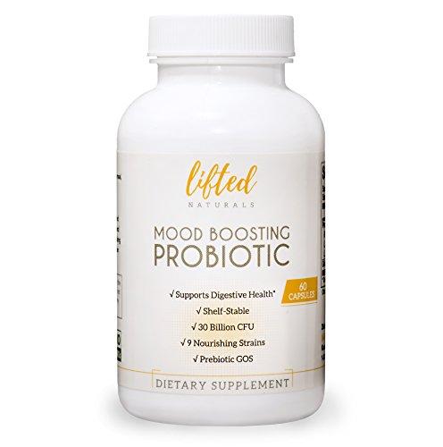 Probiotic - Mood Boosting Probiotic - Anxiety Formula w/ GOS Prebiotic - Probiotics for Gut Health - Digestive + Immune Blend - Prebiotics for Mental Support