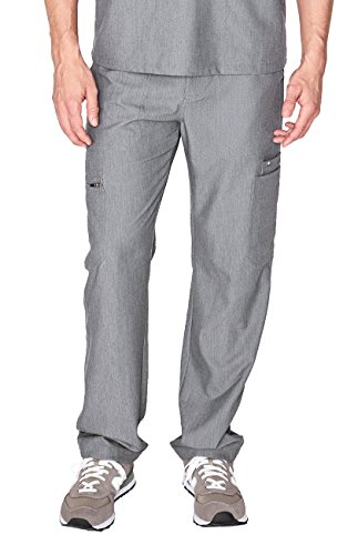 FIGS Medical Scrubs Men's Cairo Cargo Pants (Graphite, L) by FIGS