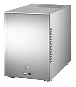 """Lian Li PC-Q25A - Caja de ordenador de sobremesa (Mini-ITX, 7 x 3.5"""", 3 x 2.5""""), plateado"""