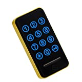 Fityle Door Cabinet Lock Keyless Doorlock Keyless Touch RFID Card Sauna Room Lock, Waterproof - Gold