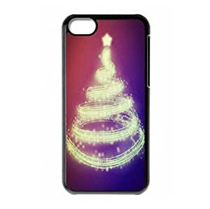 Custom Merry Christmas Tree hard PC back case for iPhone 5c