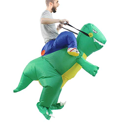 Seasonblow Inflatable T Rex Dinosaur Costume Adult Fancy Halloween Party Birthday Cosplay Fancy Dress up Suit -