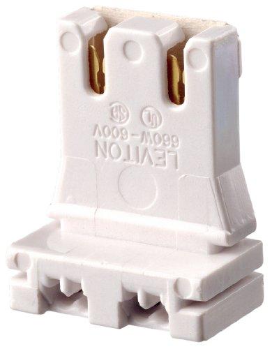 Leviton Fluorescent Medium Bi Pin - Leviton 13150-UR5 Medium Base, Bi-Pin, Fluorescent Lampholder, White