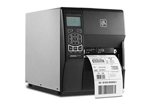 Zebra Technologies ZT23042-T01200FZ Series ZT230 4'' TT Tabletop Printer, 203 dpi Resolution, Tear, Power Cord with US Plug, Serial/USB/Internal net Print Server 10/100/Ethernet, ZPL by Zebra Technologies