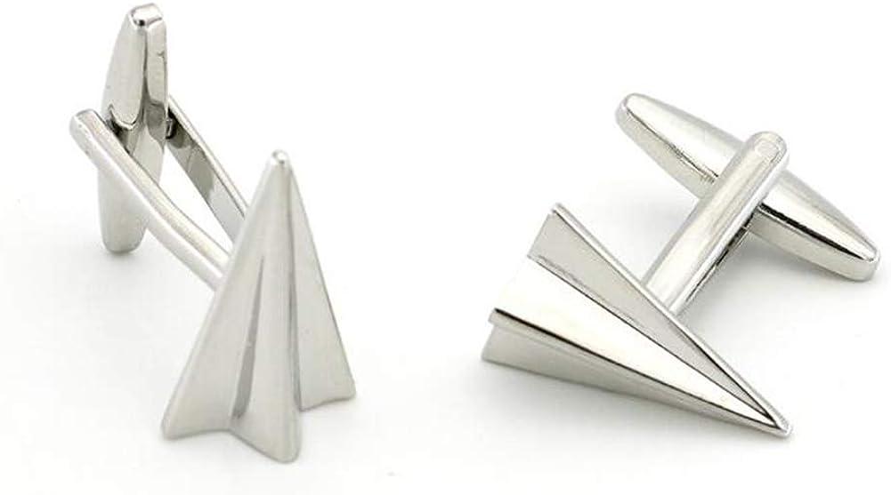 Paper Plane Style Silver Cufflinks