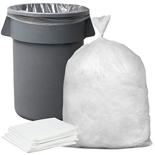 Plasticplace 55-60 Gallon Trash Bags │ 1.5 Mil │ Clear Heavy Duty Garbage Can Liners │ 38