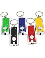 Uonlytech LED sleutelhanger zaklamp lichte mini zaklamp draagbare sleutelhanger zaklamp mini sleutelhanger zaklamp zaklamp 6 stuks (gemengde kleur)