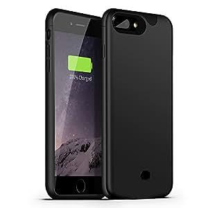 iPhone 8 plus Battery Case- Support Lightning Port Headphones, Apple iPhone 8 plus External Protective Battery Case / for iPhone 8 Battery charger Case [Ultra Slim] Compatible with Apple iPhone 7 plus