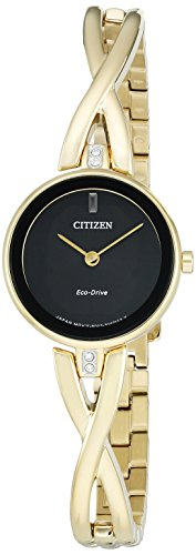 Citizen Women's 'Silhouette' Quartz Stainless Steel Casual Watch, Color:Gold-Toned (Model: EX1422-54E)