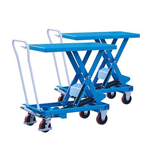Tijera hidráulica manual elevadora de mesa Carts 1100 lb capacidad ...