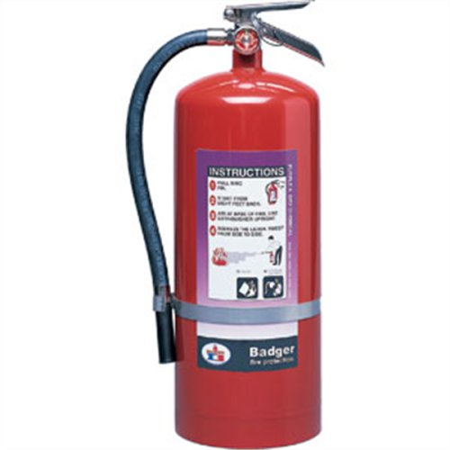 (Badger Extra 20 lb Purple K Extinguisher w Wall Hook 23495 Fire Safety Detection)
