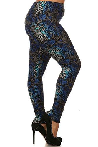Hypnotic Swirl - World of Leggings® Hypnotic Swirl Leggings - Plus Size