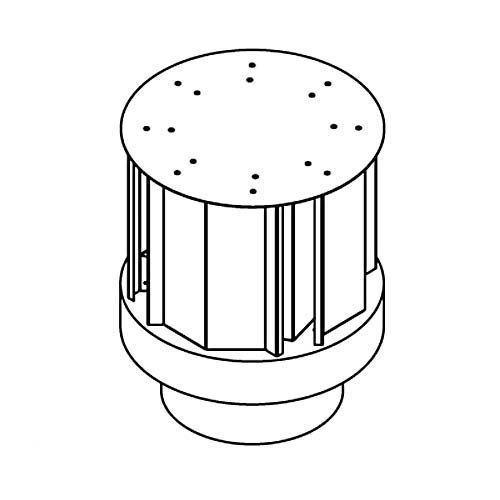 - Comfort Flame HHT-58 Fireplace Direct-Vent Horizontal Round Termination