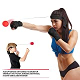 Boxing Speed Ball with Hand Wraps. Reflex Fight Ball with Headband. Great for Boxing, MMA, Kickboxing, Muay Thai, Exercise, Training, Eye-Hand Coordination. Perfect for Men, Women and Kids.