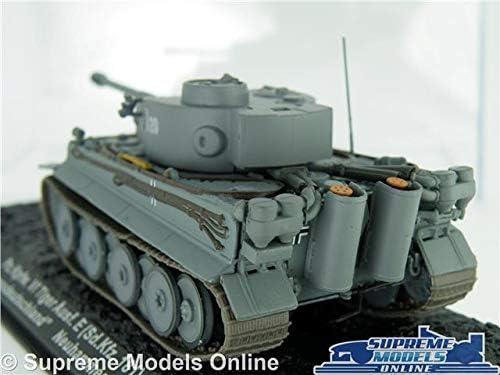 Supreme Models PZ KPFW VI TIGER TANK MODEL 1:72 SIZE ARMY MILITARY IXO ALTAYA GERMANY 1943 T3