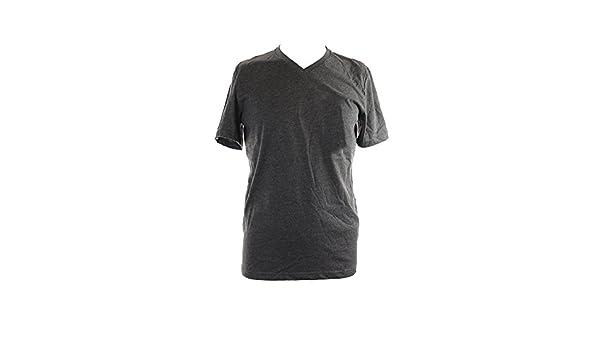 ae0b221bd8548 Alfani Ice Heather Men Small V-Neck Slim Fit Basic Tee T-Shirt Black S at Amazon  Men s Clothing store