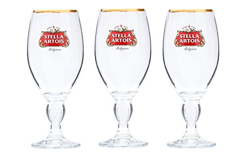 Stella Artois Beer Glass Challice 33cl (Pack of 3) by Simply Hone USA